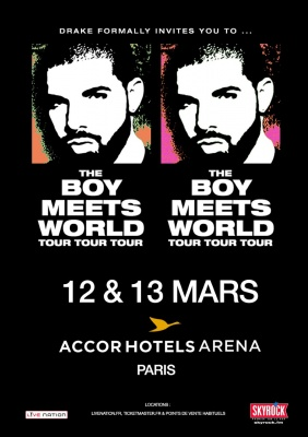 Drake Paris Tour 12&13 March 2017